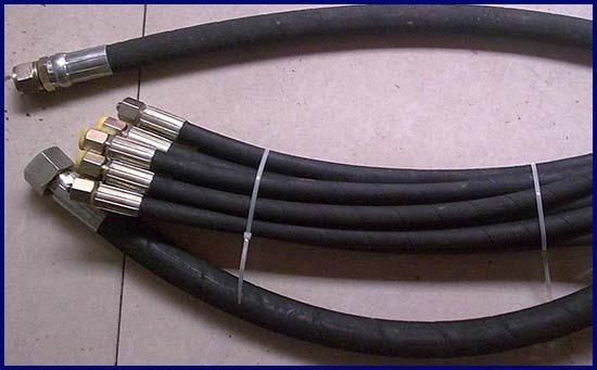 耐火阻燃钢丝高压胶管总成